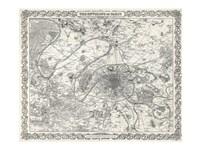 1855 City Plan of Paris, France Fine-Art Print