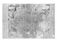 Jaillot map of Paris 1762 Fine-Art Print