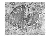 Map of Paris circa 1550 Fine-Art Print