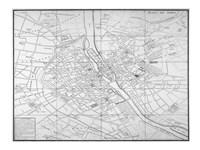 Paris map circe 1739 Fine-Art Print