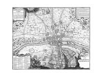 Plan de Paris - gray Fine-Art Print