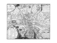 Plan de Paris - black and white Fine-Art Print
