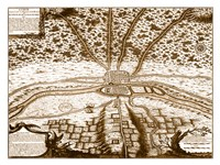The first map of Paris Fine-Art Print