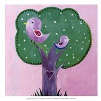 Bird Dots I - mini Fine-Art Print