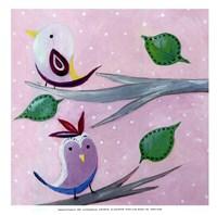Bird Dots II - mini Fine-Art Print
