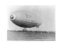 Landing of British Dirigible R-34 at Mineola, Long Island, N.Y. Fine-Art Print