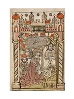 Nativity Scene with Depiction of Trinity Fine-Art Print