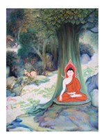 Paintings of Life of Gautama Buddha Fine-Art Print