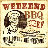 Weekend BBQ chef Fine-Art Print