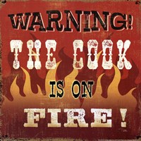 The cook is on fire Fine-Art Print