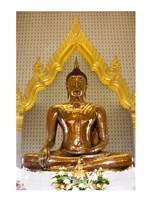Golden Buddha Statue in a Temple, Wat Traimit, Bangkok, Thailand Fine-Art Print