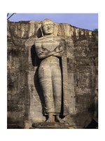 Statue of Buddha carved in a rock, Gal Vihara, Polonnaruwa, Sri Lanka Fine-Art Print