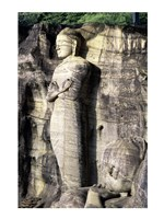 Statues of Buddha carved in rocks, Gal Vihara, Polonnaruwa, Sri Lanka Fine-Art Print