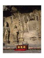 Buddha Statue in a Cave, Longmen Caves, Luoyang, China Vertical Fine-Art Print