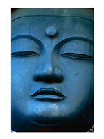 Close-up of the face of a Buddha Statue, Tokyo, Honshu, Japan Fine-Art Print