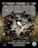 Pittsburgh Penguins All-Time Greats Composite Fine-Art Print