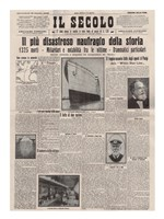 Italian Front Page about the Titanic Disaster Fine-Art Print