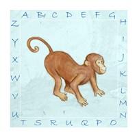 Monkey Alphabet Framed Print