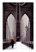 Brooklyn Bridge Meets Red Fine-Art Print