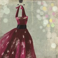 Fuschia Dress II Fine-Art Print