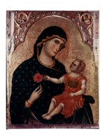 Madonna Holding Rose with Child Fine-Art Print