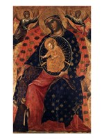 Madonna and Child with two Votaries Fine-Art Print