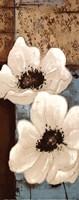 White Poppies Panel I Fine-Art Print