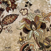 European Floral on Beige II Fine-Art Print