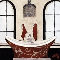 Red Villa Bath I Fine-Art Print