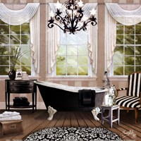 Chandelier Bath I Fine-Art Print