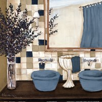 Blue zen bath I Fine-Art Print