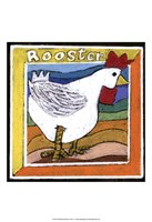 Whimsical Rooster Fine-Art Print