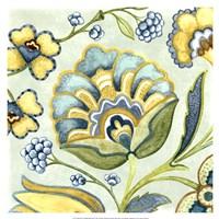 Decorative Golden Bloom III Fine-Art Print