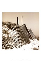 Fences in the Sand I Fine-Art Print