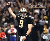 Drew Brees Sets the NFL Single-Season Passing Yards Record with Overlay Fine-Art Print