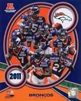 Denver Broncos 2011 AFC West Division Champions Team Composite Fine-Art Print