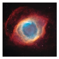 The Helix Nebula: a Gaseous Envelope Expelled By a Dying Star Fine-Art Print