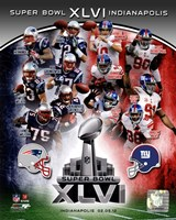 SuperBowl XLVI Match Up Composite Fine-Art Print
