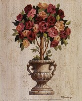 Pink and Red Rose Topiary Fine-Art Print