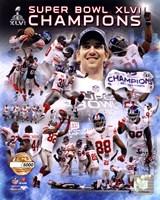 New York Giants Super Bowl XLVI Champions PF Gold - Hand Numbered Limited Edition.  8x10's 5000, Enlargements 500. Fine-Art Print
