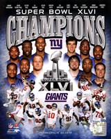 New York Giants Super Bowl XLVI Champions Composite Fine-Art Print