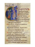 Initial C from 105th Psalm In Albani Psalter Fine-Art Print