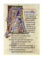 Psalm 24, Initial A. In Albani Psalter Fine-Art Print