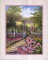 White Trellis/Roses Fine-Art Print