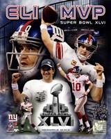 Eli Manning Super Bowl XLVI MVP Composite Fine-Art Print
