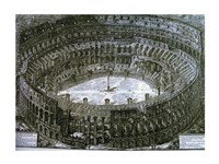Interior of the Colosseum with niches for the Via Crucis Fine-Art Print