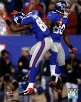 Victor Cruz & Hakeem Nicks 2011 Action Fine-Art Print