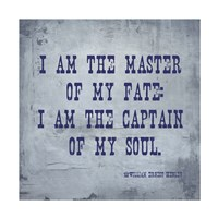I Am The Master Of My Fate: I Am The Captain Of My Soul, Invictus Fine-Art Print
