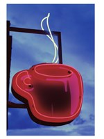 Neon Coffee Cup Sign Fine-Art Print