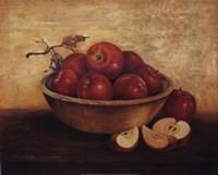 Apples in Wood Bowl Fine-Art Print